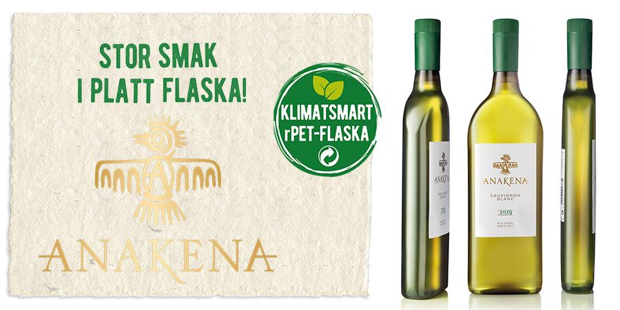 Anakena Sauvignon Blanc i klimatsmart vinflaska