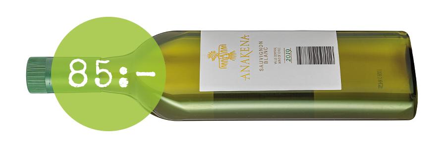 Anakena Sauvignon Blanc i platt vinflaska i plast